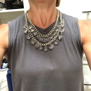 Stella and Dot Byblos crystal chandelier necklace.